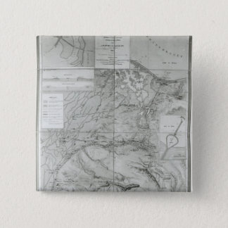 Preparatory Map of the Suez Canal, 1855 15 Cm Square Badge