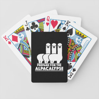 Prepare For The Alpacalypse Bicycle Playing Cards