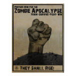 Prepare for the Zombie Apocalypse poster
