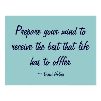 Prepare your mind - Postcard