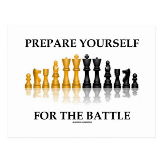 Prepare Yourself For The Battle (Reflective Chess) Postcard