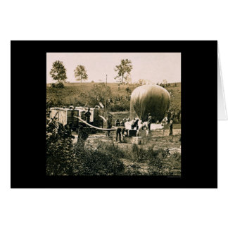 Preparing a Military Balloon, Gaines Mill, VA 1862 Card