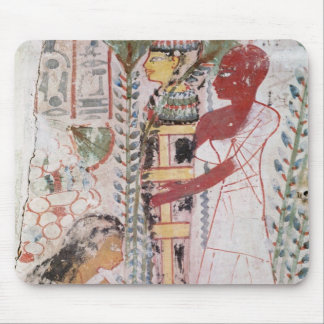 Preparing a mummy for a purification ceremony mouse mat