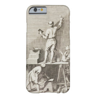 Preparing a wall for fresco painting (engraving) barely there iPhone 6 case