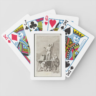 Preparing a wall for fresco painting (engraving) bicycle playing cards