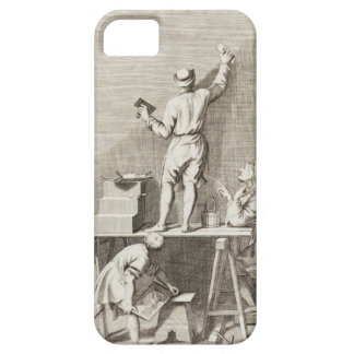 Preparing a wall for fresco painting (engraving) iPhone 5 covers