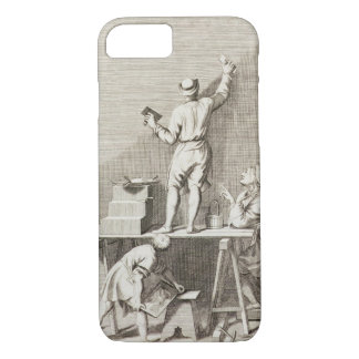 Preparing a wall for fresco painting (engraving) iPhone 8/7 case