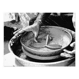 Preparing an earthern mask at the Surajkund Mela Photographic Print