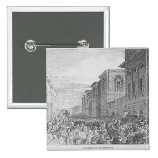 Preparing for an Execution 15 Cm Square Badge