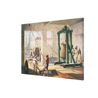 Preparing the Cable, from 'The Atlantic Telegraph' Canvas Print
