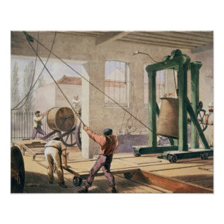 Preparing the Cable, from 'The Atlantic Telegraph' Poster