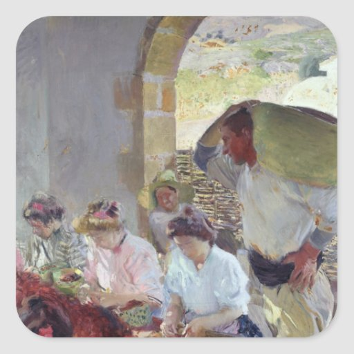 Preparing the Dry Grapes, 1890 Stickers