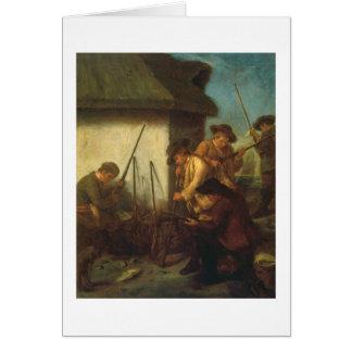 Preparing the Guns (oil on canvas) Card