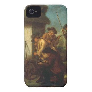 Preparing the Guns (oil on canvas) iPhone 4 Case