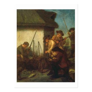 Preparing the Guns (oil on canvas) Postcard