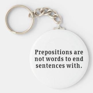 Prepositions Key Ring