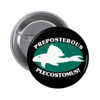 Preposterous Plecostomus 6 Cm Round Badge