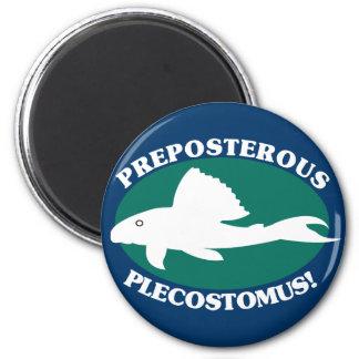 Preposterous Plecostomus 6 Cm Round Magnet