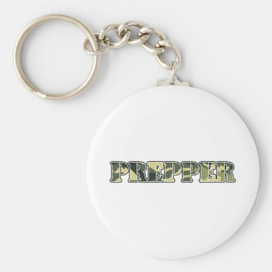 Prepper Basic Round Button Key Ring