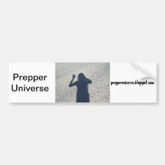 Prepper Universe Shadow Bumper Sticker