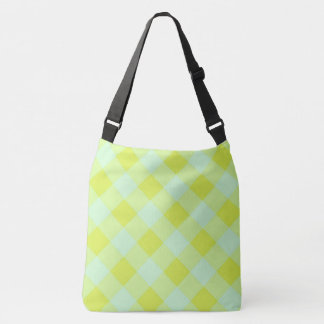 Preppie*-Pool-House-Argyle-Lime-Blue-Totes-Bags Crossbody Bag