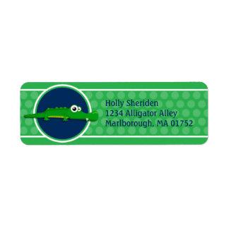 Preppy Alligator Address Labels