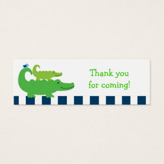 Preppy Alligator Goodie Bag Tags Gift Tags Mini Business Card