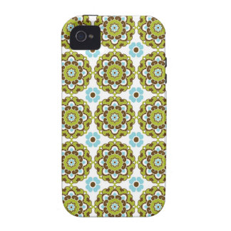 Preppy arabesque damask girly print floral pattern Case-Mate iPhone 4 cover