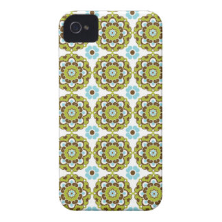 Preppy arabesque damask girly print floral pattern Case-Mate iPhone 4 case