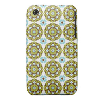 Preppy arabesque damask girly print floral pattern Case-Mate iPhone 3 cases