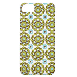 Preppy arabesque damask girly print floral pattern cover for iPhone 5C