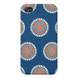 Preppy arabesque polka dot dots tribal pattern iPhone 4/4S cover