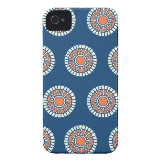 Preppy arabesque polka dot dots tribal pattern iPhone 4 covers