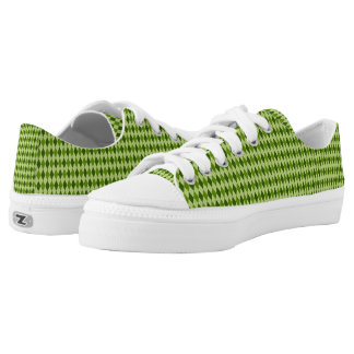 Preppy Argyle Diamond Plaid in Lighter Green Printed Shoes