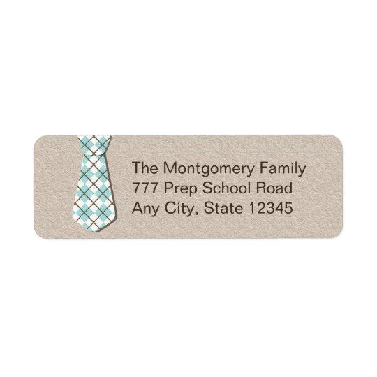 Preppy Argyle Necktie Return Address Labelsi