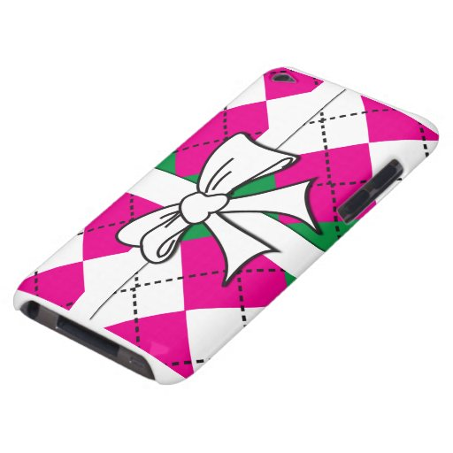 Preppy Argyle Tied with bow iPod Case-Mate Cases