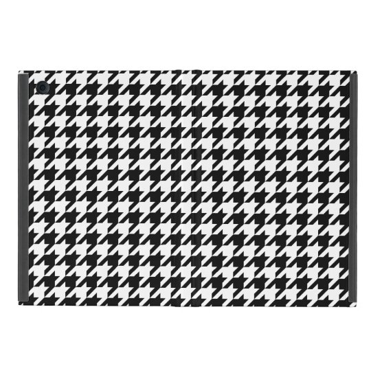 Preppy Black and White Houndstooth Cover For iPad Mini