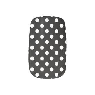 Preppy Black and White Polka Dots Nail Stickers