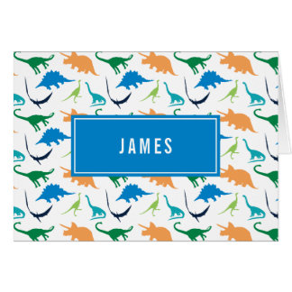 Preppy Boy Dinosaur Personalized Thank You Notes