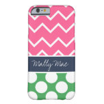 Preppy Chevron Dot Mally Mac iPhone 6 case Barely There iPhone 6 Case