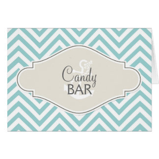 Preppy Chevron Stripe Modern Monogrammed Name Card