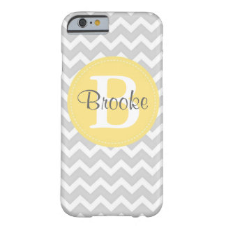 Preppy Chic Chevron Gray and Yellow iPhone 6 case
