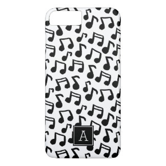 Preppy Doodle Music notes Monogram Personalized iPhone 8 Plus/7 Plus Case
