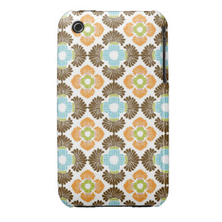 Preppy flower arabesque damask girly print pattern Case-Mate iPhone 3 cases