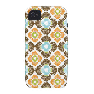 Preppy flower arabesque damask girly print pattern iPhone 4 case