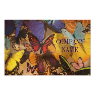 preppy girly colourful modern fashion butterfly 14 cm x 21.5 cm flyer