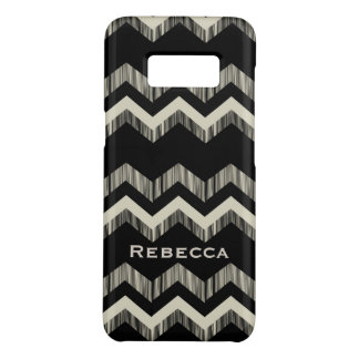 Preppy Girly Pattern Black And Grey Chevron Case-Mate Samsung Galaxy S8 Case