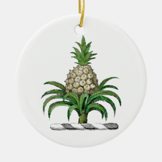 Preppy Heraldic Pineapple Coat of Arms Crest Christmas Ornament