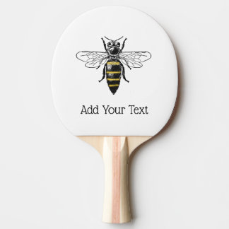 Preppy Heraldic Vintage Bee #2 Coat of Arms C Ping Pong Paddle