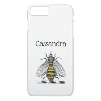 Preppy Heraldic Vintage Bee Coat of Arms Emblem C iPhone 8 Plus/7 Plus Case